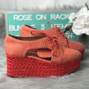 Jeffery Campbell Raffia Shoe Size 8